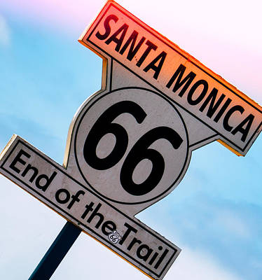 Photograph - Route 66 End Of The Trail by Michael Hope