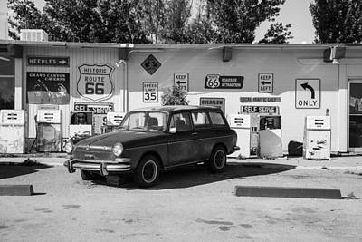 Photograph - Route 66 Gas Station And Car by John McGraw
