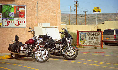 Photograph - Route 66 - Grants New Mexico Motorcycles by Frank Romeo