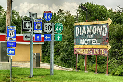 Photograph - Route 66 History Dsc07071  by Greg Kluempers