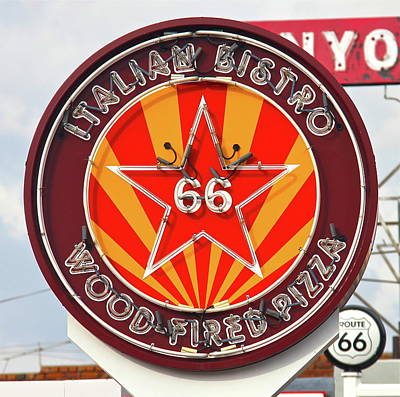 Photograph - Route 66 Italian Bistro by Denise Mazzocco