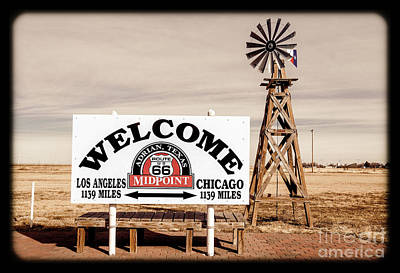 Photograph - Route 66 Midpoint  by Imagery by Charly