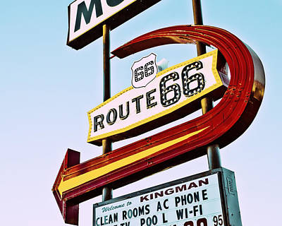 Photograph - Route 66 Motel Neon Sign by Gigi Ebert