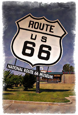 Photograph - Route 66 Museum - Impressions by Ricky Barnard