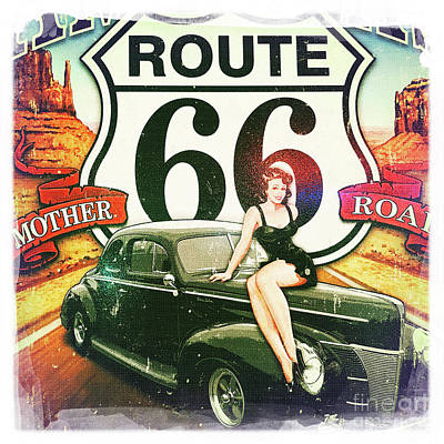 Photograph - Route 66 by Nina Prommer
