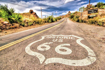 Painting - Route 66 Oatman Arizona by Christopher Arndt