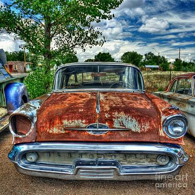 Route 66 Oldsmobile Art Print by John Kelly