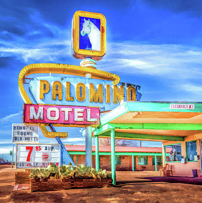 Painting - Route 66 Palomino Motel by Christopher Arndt