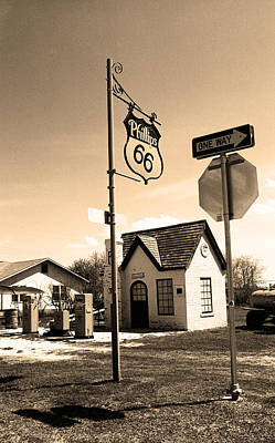 Photograph - Route 66 - Phillips 66 Gas Station 8 by Frank Romeo