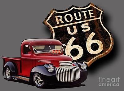 Route 66 Pickup Art Print