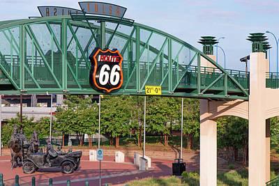 Photograph - Route 66 Plaza - Tulsa Oklahoma by Gregory Ballos