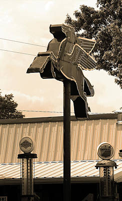 Brown Tones Photograph - Route 66 - Rolla, Missouri Sepia by Frank Romeo