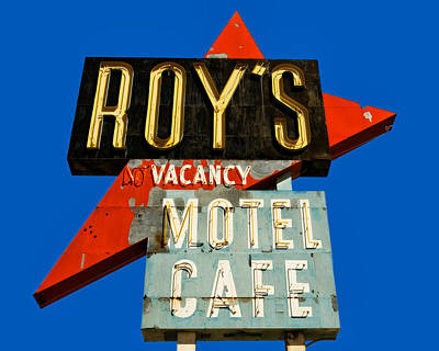 Photograph - Route 66 Roy's Motel Cafe Sign by Gigi Ebert
