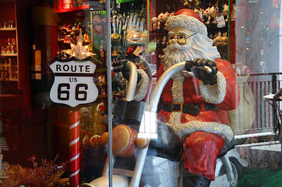 Photograph - Route 66 Santa by Lynn Bauer