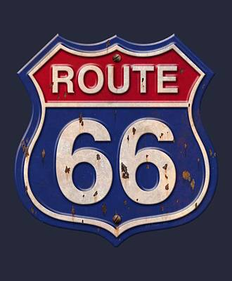 Digital Art - Route 66 Shirt by WB Johnston
