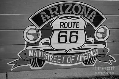 Photograph - Route 66 Sign by Anthony Sacco