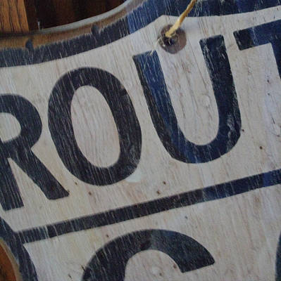 Photograph - Route 66 Sign Partial by Roger Passman