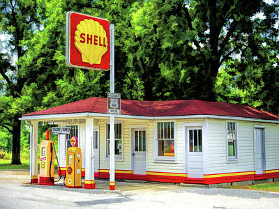 Painting - Route 66 Soulsby Service Station by Christopher Arndt