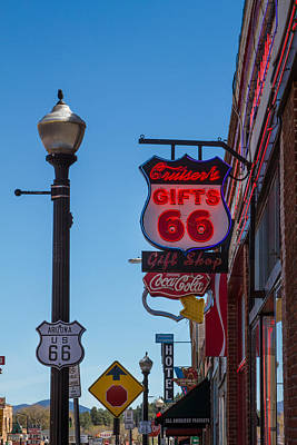 Photograph - Route 66 Street View In Williams Az by Bonnie Follett