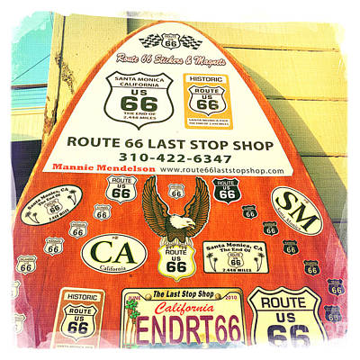 Transportation Photograph - Route 66 Surfboard by Nina Prommer