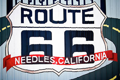 Photograph - Route 66 Sign - Needles, California by Tatiana Travelways