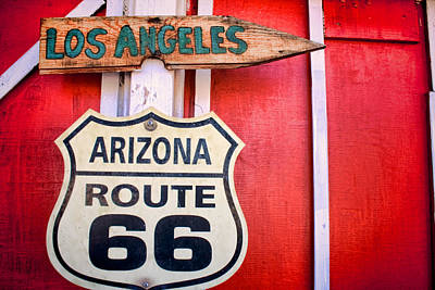 Photograph - Route 66 To La by Kim Wilson