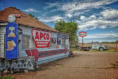 Route 66 Towing Art Print by Diana Powell