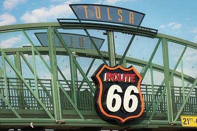 Photograph - Route 66 Tulsa Bridge - Avery Plaza by Gregory Ballos