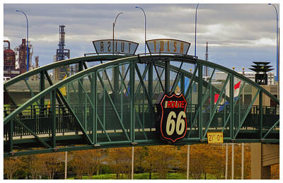 Route 66 Tulsa Sign - Hdr Art Print by Tony Grider