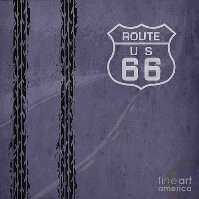 Route 66, Us 66 Art Print by Pablo Franchi