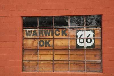 Photograph - Route 66 Windowe by Katherine Worley