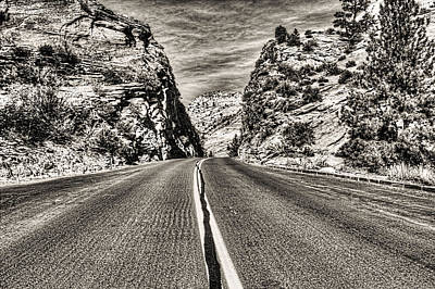 Photograph - Route 9 Zion National Park by Roger Passman