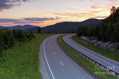 Photograph - Route 93 - Franconia Notch State Park New Hampshire by Erin Paul Donovan