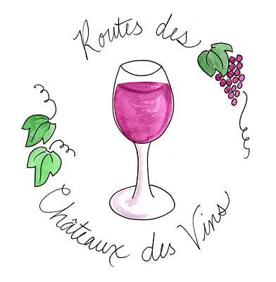 Painting - Route Des Chateaux Des Vins by Anna Elkins