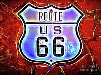 Photograph - Route Us 66 by Todd Breitling