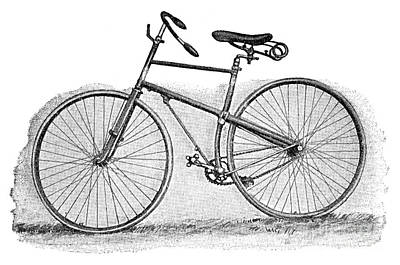 Rover Bike Photograph - Rover Bicycle, C1896 by Granger