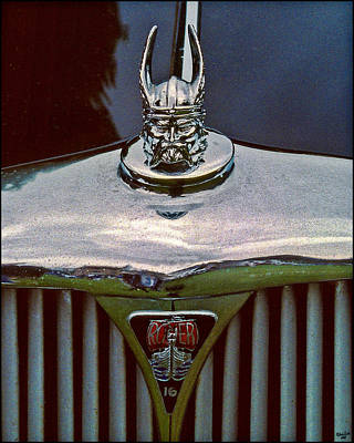 Photograph - Rover Radiator And Hood Ornament by Chris Lord
