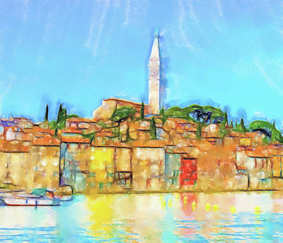 Lucent Dreaming Painting - Rovinj by Nick Arte