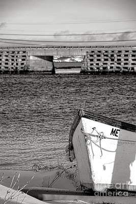 Photograph - Row Boat And Cribstone Bridge by Olivier Le Queinec