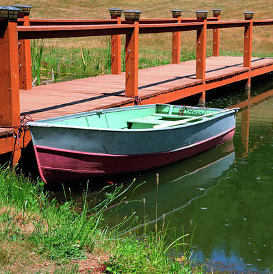 Photograph - Row Boat Catwalk Pond by Jerry Sodorff