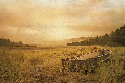 Photograph - Row Boat In The Dune Grasses by Don Schwartz