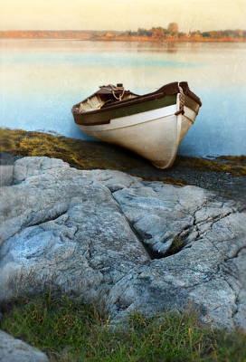 Row Boat On Shore Art Print