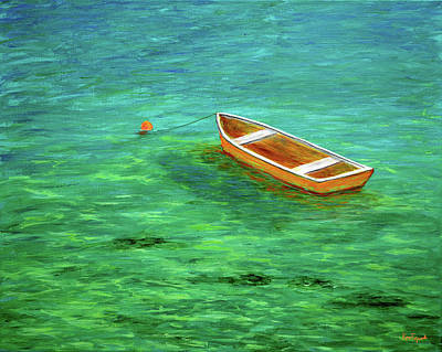 Ocean Painting - Row Boat On The Flats by Ken Figurski