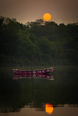 Photograph - Row Boat Sunrise by Chris Bordeleau