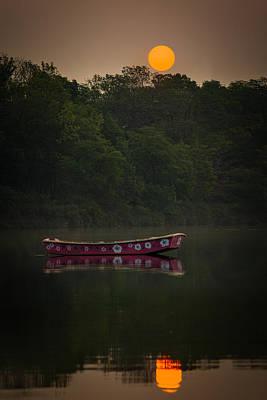 Photograph - Row Boat Sunrise by Chris Bordeleau