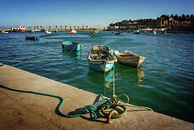 Photograph - Row Boats Anchored In Cascais by Carlos Caetano