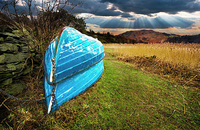 Rowboat Photograph - Row Boats In Waiting by Meirion Matthias