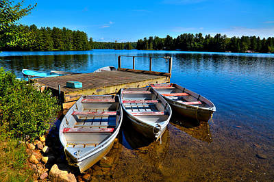 Photograph - Row Boats On White Lake by David Patterson