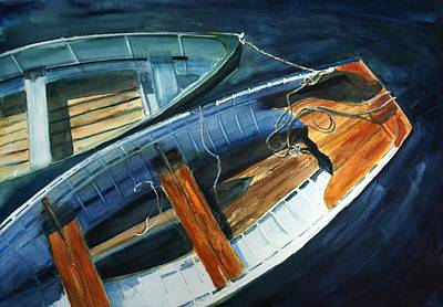 Row Boats Side By Side Art Print