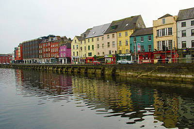 Row Homes On The River Lee, Cork, Ireland Art Print
